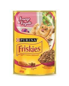 Alimento Úmido Friskies Gatos Adultos Frango e Figado ao Molho 85g