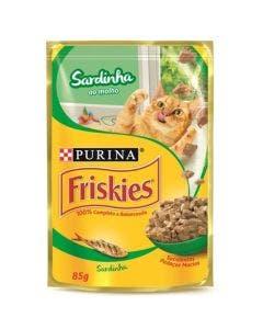 Alimento Úmido Friskies Gatos Adultos Sardinha ao Molho 85g