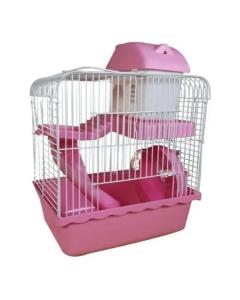 Gaiola Hamster Completa Funny Home Rosa