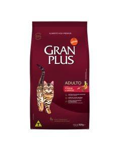 Ração GranPlus para Gatos Adultos Sabor Carne e Arroz 10,1Kg