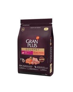 Gran Plus Gourmet Cão Adulto Mini Salmão e Frango 1kg