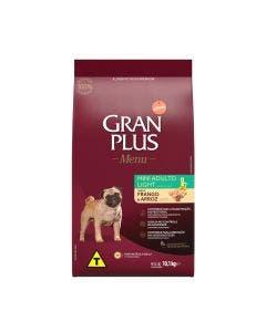 Gran Plus Menu Cães Adulto Mini Ligth Frango e Arroz 10,1 KG