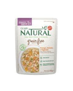 Alimento Úmido Guabi Natural Grain Free Gatos Frango, Salmão e Vegetais 85g