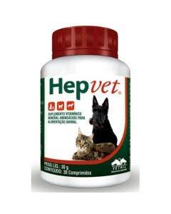 Suplemento Vetnil Hepvet 30 Comprimidos
