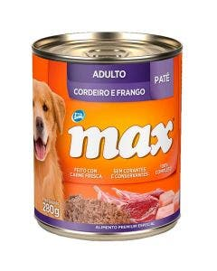 Alimento Úmido Max Cão Adulto Cordeiro e Frango 280g