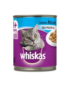 Alimento Úmido Whiskas Gatos Adultos Atum ao Molho 290g
