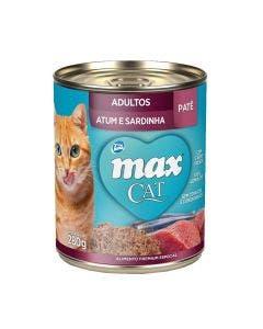 Alimento Úmido Max Cat Gatos Adultos Atum e Sardinha 280g