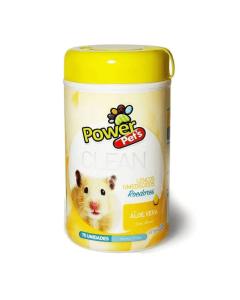 Lenços Umedecidos Power Pets para Roedores