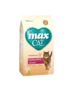 Ração Max Cat Gatos Castrados Salmão e Arroz 10,1 Kg