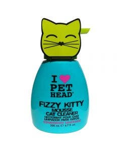 Mousse De Limpeza Pet Head Fizzy Kitty Para Gatos 200ml
