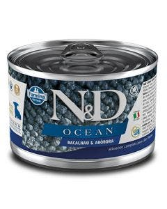 Alimento Úmido N&D Ocean Cães Filhotes Bacalhau e Abóbora 140g