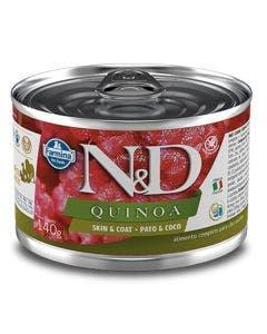 Alimento Úmido N&D Quinoa Skin Cães Adultos Pato e Coco 140g