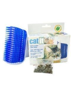 Arranhador Auto Escovante De Parede Azul para Gatos
