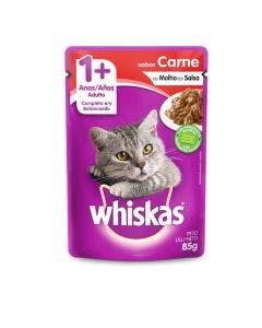 Alimento Úmido Whiskas Gatos Adultos Carne 85g 1 unid