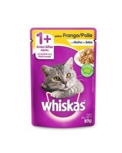 Alimento Úmido Sachê Whiskas Gatos Adultos Frango 85g 1 Quantidade