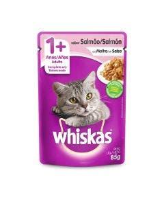 Alimento Úmido Whiskas Gatos Adultos Salmão 85g