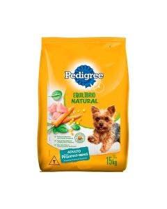 Ração Pedigree Equilibrio Natural Cães Adultos Raças Pequenas 15 Kg