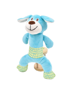 Brinquedo Pelúcia Azpr Cachorro Azul e Verde
