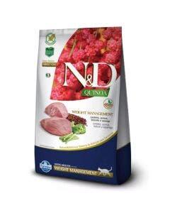 Ração N&D Quinoa Weight Management Gatos Adultos Cordeiro 400 g