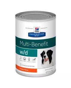 Alimento Úmido Lata Hills Multi-Benefit Controle de Peso W/D para Cães 370g