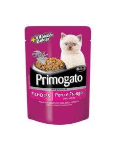 Alimento Úmido Sachê Primogato Filhote Sabor Peru e Frango 85g