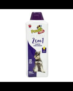 Shampoo Power Pet's Uva 2em1 700ml