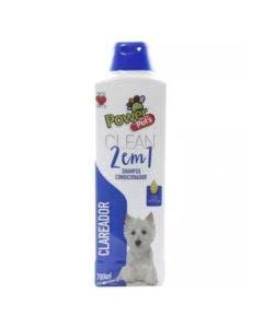 Shampoo PowerPets 2em1 Clareador 700ml