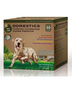 Tapete Higiênico Petlab Domestics para Cães 55x55cm 30 unidades