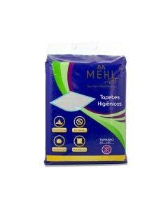 Tapete Higiênico Mehl Pet Carvão Ativado  80 x 60cm 30 Unidades
