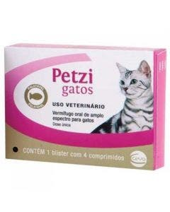 Vermífugo Petzi Gatos 4 Comprimidos