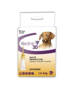 Antipulgas Vectra 3D Cães 1,5 à 4Kg - 3 Pipetas