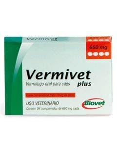 Vermífugo Vermivet Plus 660mg 4 Comprimidos