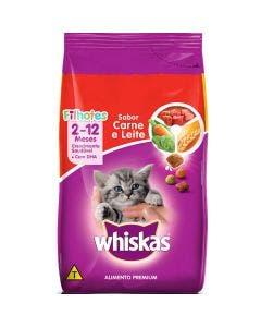 Ração Whiskas Gatos Filhotes Carne e Leite 10 Kg