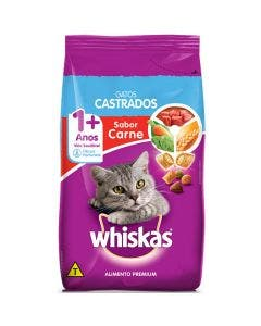 Ração Whiskas Castrados Gatos Adultos Carne 1 Kg