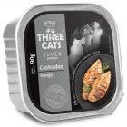 Alimento Úmido Three Cats Super Premium Gatos Castrados Frango 90g