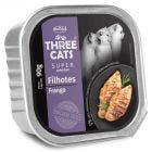 Alimento Úmido Three Cats Super Premium Gatos Filhotes Frango 90g